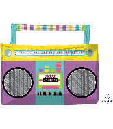 "27"" SuperShape Awesome Party Boombox Foil Balloon"