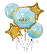 Bouquet Blue Baby Boy Foil Balloon