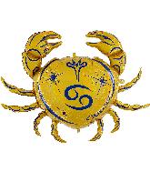 "40"" Zodiac Sign Cancer Gold Foil Balloon"