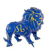 "40"" Zodiac Sign Leo Blue Foil Balloon"