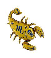 "40"" Zodiac Sign Scorpio Gold Foil Balloon"