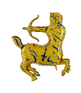 "40"" Zodiac Sign Sagittarius Gold Foil Balloon"