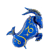 "40"" Zodiac Sign Capricorn Blue Foil Balloon"