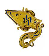 """40"""" Zodiac Sign Aquarius Gold Foil Balloon"""