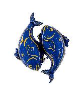 "40"" Zodiac Sign Pisces Blue Foil Balloon"