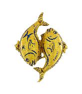 "40"" Zodiac Sign Pisces Gold Foil Balloon"