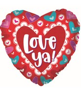 "17"" Love Ya! DoI Love You Heart Foil Balloon"