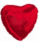 "9"" Red Heart Shaped Airfill Mylar Balloon"