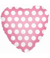 """9"""" Airfill Pink with White Polka Dots"""