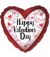 "9"" Happy Valentine's Day Red Border Balloon"