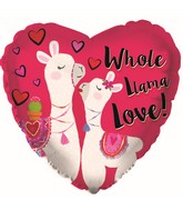 "9"" Airfill Only Whole Llama Love Foil Balloon"