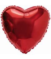 "31"" Heart Plain Red Foil Balloon"