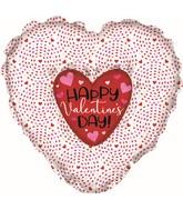 "36"" Happy Valentine's Day Heart N Heart Foil Balloon"
