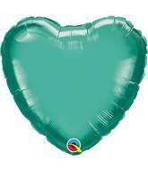 """9"""" Airfill Emerald Green Heart"""