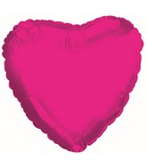 "4.5"" Airfill Only Hot Pink Heart Foil Balloon"