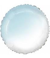 """18"""" Round Baby Gradient Blue Foil Balloon"""