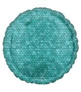 "18"" Ocean Blue Sequins Foil Balloon"