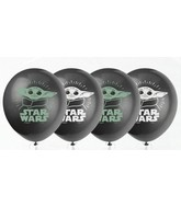 "11"" Latex Balloons Star Wars The Child Yoda (8 Per Bag)"