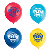 """12"""" 8 Count Paw Patrol Latex Balloons 2 Sided"""
