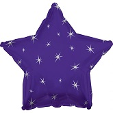 "18"" Purple Sparkle Star Foil Balloon"