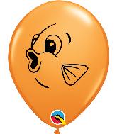 """5"""" Orange (100 Per Bag) Fish Face Latex Balloons"""