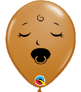 "5"" M. Brown (100 Per Bag) Sleeping Pacifier Latex Balloons"
