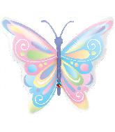 """40"""" Shape Beautiful Butterfly Foil Balloon"""