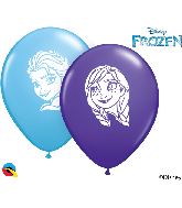 "5"" Anna & Elsa Faces Latex Balloons (100 Per Bag)"