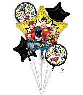 Bouquet Justice League Foil Balloon