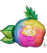 "30"" Iridescent Beautiful Flower Holographic Foil Balloon"