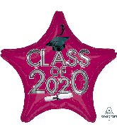 "18"" Graduation Class of 2020 - Berry Foil Balloon"
