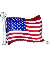 "27"" Satin Infused Flag SuperShape Foil Balloon"