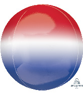"16"" Ombre Orbz Red, White & Blue Orbz Foil Balloon"