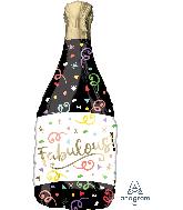 "36"" Fabulous Confetti Bottle Bubbly Personalize Foil Balloon"