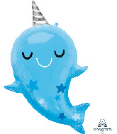 """30"""" Narwhal Baby SuperShape Foil Balloon"""