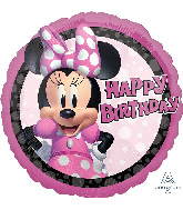 "18"" Minnie Mouse Forever Birthday Foil Balloon"