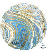 """18"""" Marblez Blue Circle Foil Balloon"""