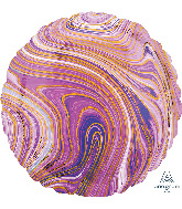 "18"" Marblez Purple Circle Foil Balloon"