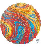 "18"" Marblez Colorful Circle Foil Balloon"