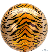 "16"" Orbz Tiger Print Foil Balloon"