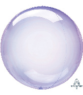 "18"" Crystal Clearz™ Purple Balloon"