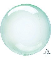 "18"" Crystal Clearz™ Green Balloon"