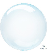 "11"" Crystal Clearz™ Petite Blue Crystal Clearz™ Balloon"