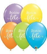 """11"""" (50 Per Bag) Simplement Bonne Fete Latex Balloons"""