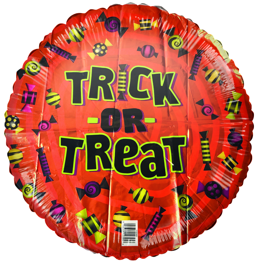 """18"""" Trick Or Treat Foil Balloon"""