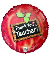 "18"" Thank You Teacher Foil Balloon"
