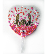 """9"""" Airfill Only Gold Love Foil Balloon"""