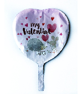 "9"" Airfill Only Critter My Valentine Foil Balloon"
