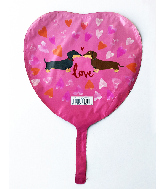 "9"" Airfill Only Dachshund Luv Foil Balloon"