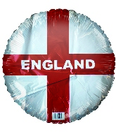 "18"" England Flag Foil Balloon"